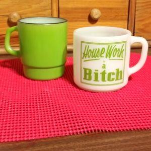 Vintage Fire King Coffee Mug Mixed Match Set